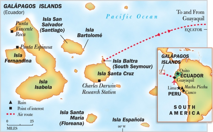 The Galapagos Expedition Map