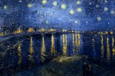 Starry Night Over the Rhone. 1888. France. Vicent Van Gogh