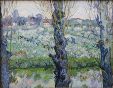 View of Arles, Flowering Orchards. 1889. Germany. Vincent Van Gogh