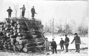 Logging Camp in Wisconsin