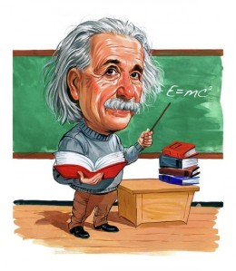 Albert Einstein Cartoon Art