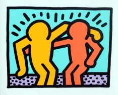 Best Buddies. Keith Haring (Featured image: artspace)