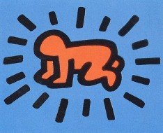Radiant Child. Keith Haring (Featured image: artnet)