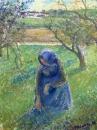 Gathering Herbs. Camille Pissarro. 1882