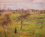 The Meadow at Eragny. Camille Pissarro. 1894