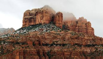 Cathedral Rock in winter storm | Sedona, Arizona, U.S. | commons.wikimedia.org